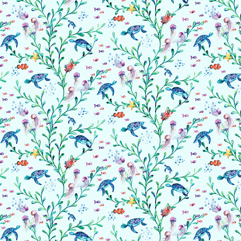 Albany Under the Sea Light Teal Wallpaper - Product code: 90941
