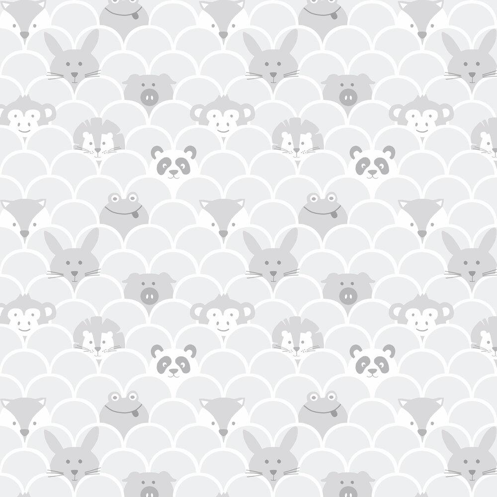 Peek a Boo Wallpaper - Grey - by Albany
