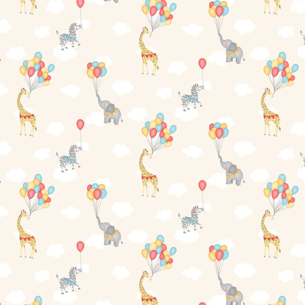 Albany Animal Balloons Neutral Wallpaper - Product code: 91042