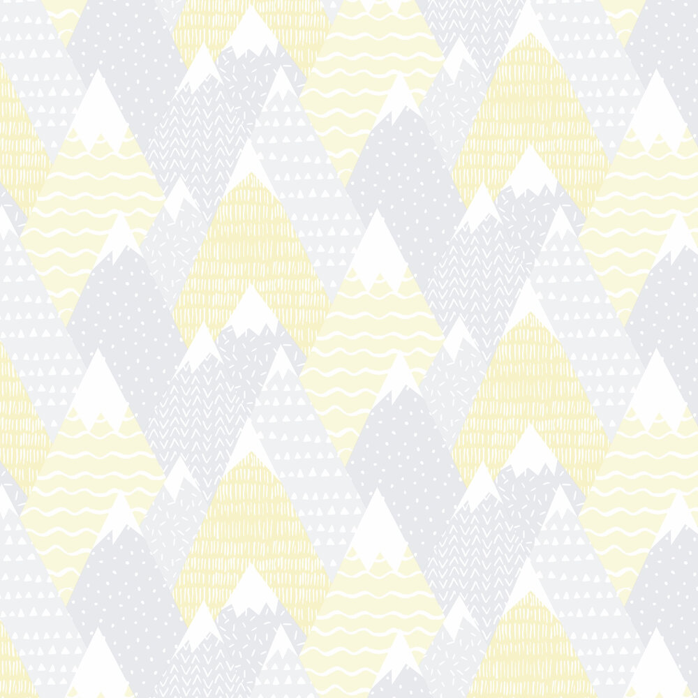 Mountains Wallpaper - Yellow - by Albany