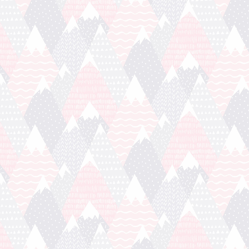 Mountains Wallpaper - Pink - by Albany