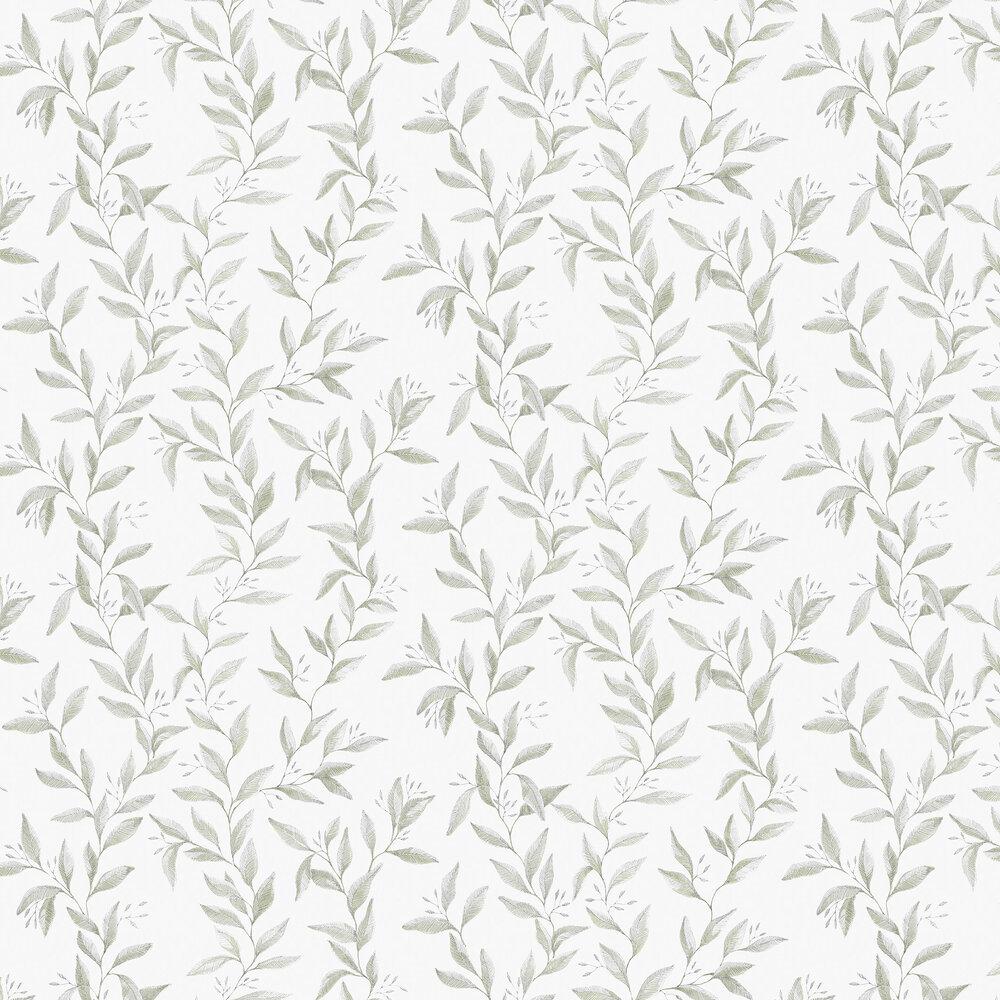 Sense Wallpaper - Green - by Boråstapeter
