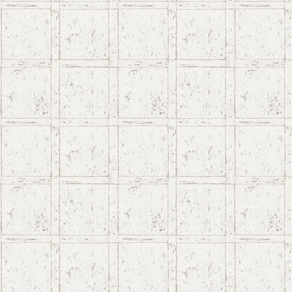 Vintage Panel Wallpaper - White - by Boråstapeter