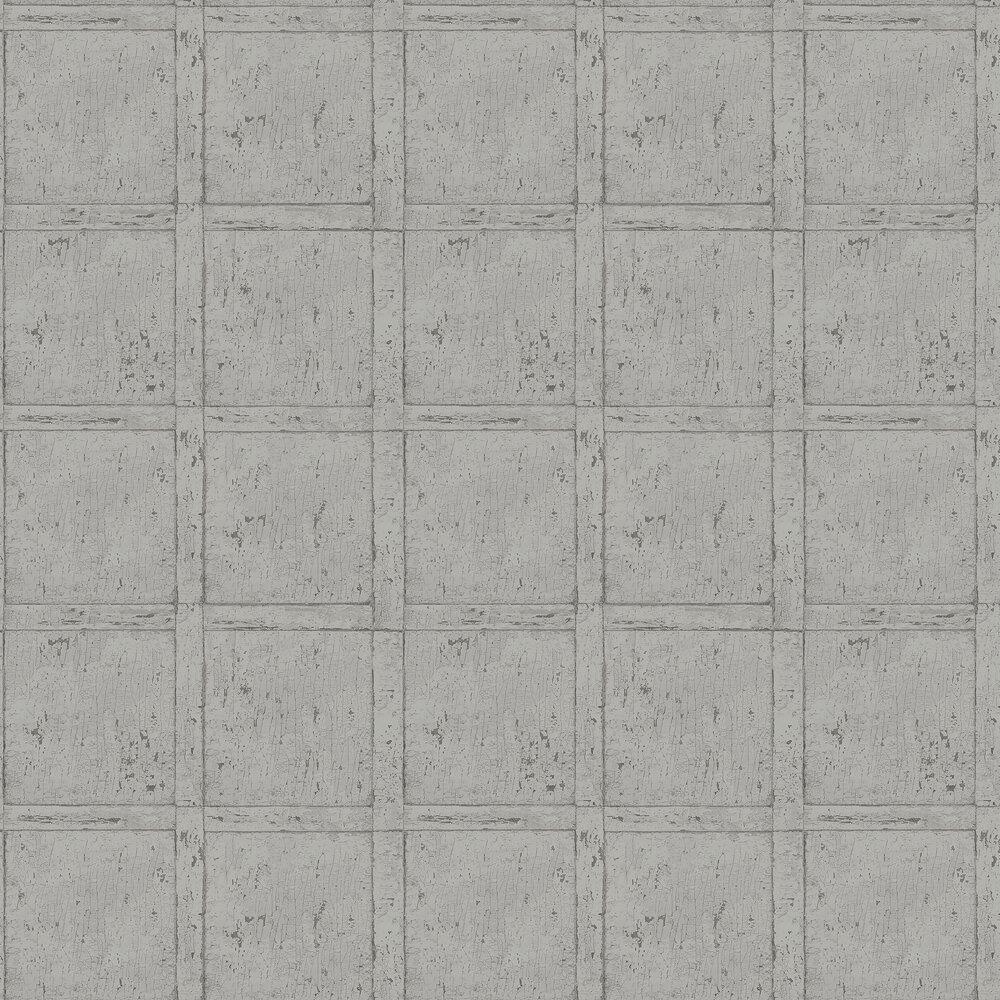 Vintage Panel Wallpaper - Grey - by Boråstapeter