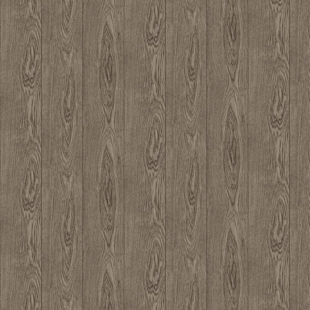 Fine Wood Wallpaper - Brown - by Boråstapeter