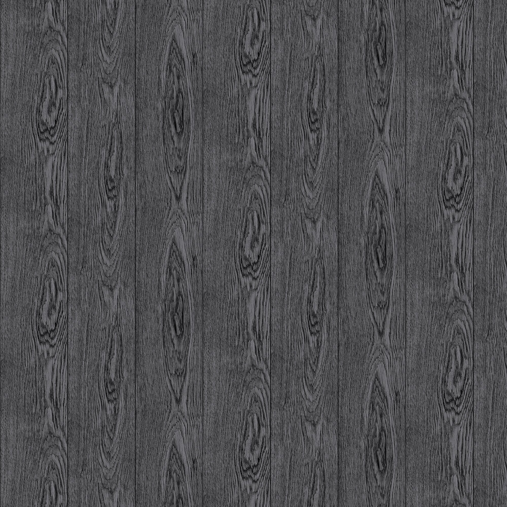 Fine Wood Wallpaper - Black - by Boråstapeter