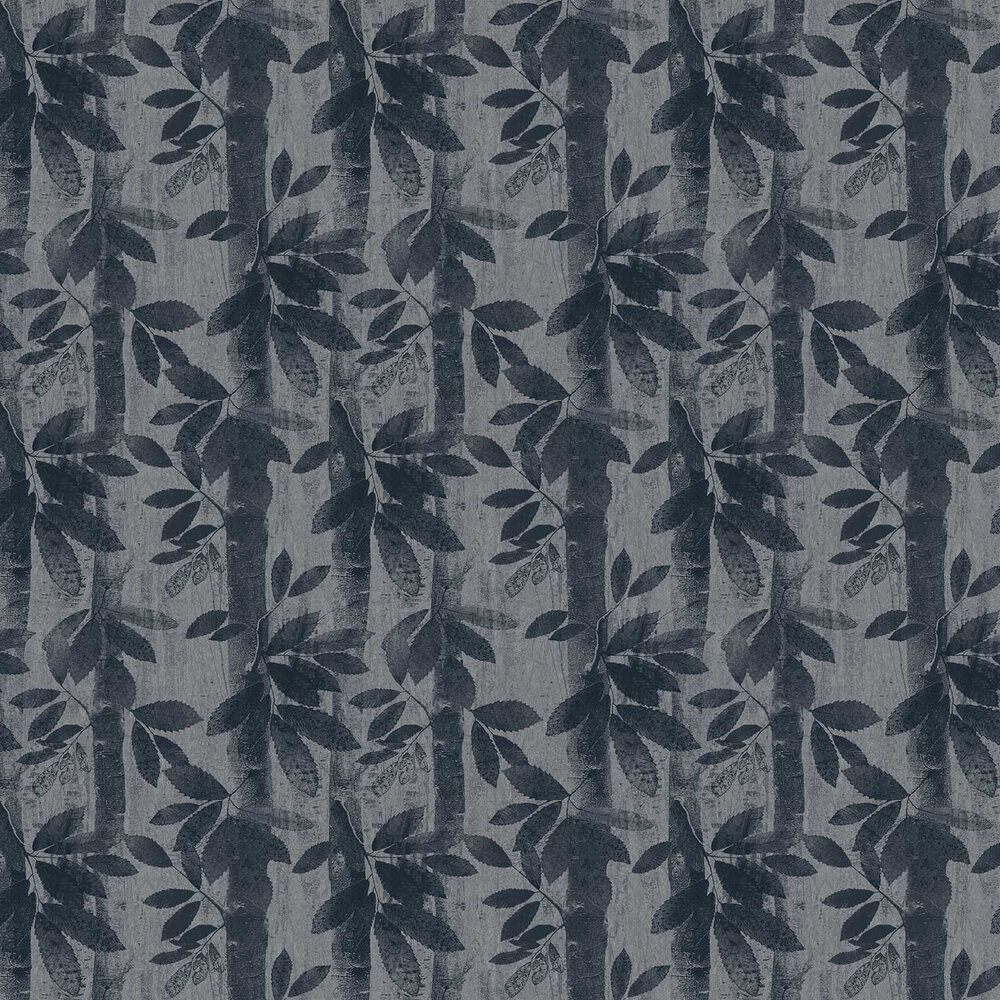 Woodland Wallpaper - Liquorice - by Fardis
