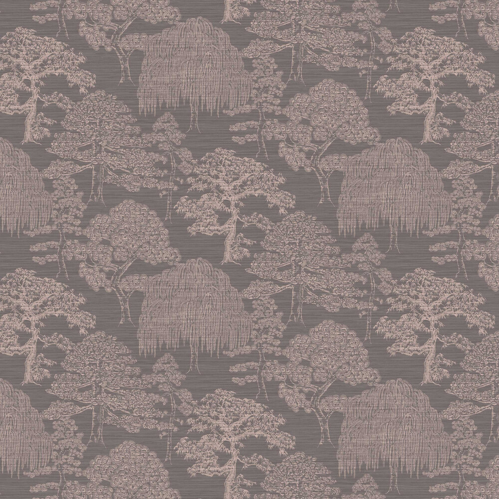 Arthouse Orient Forest Charcoal / Rose Wallpaper - Product code: 298003