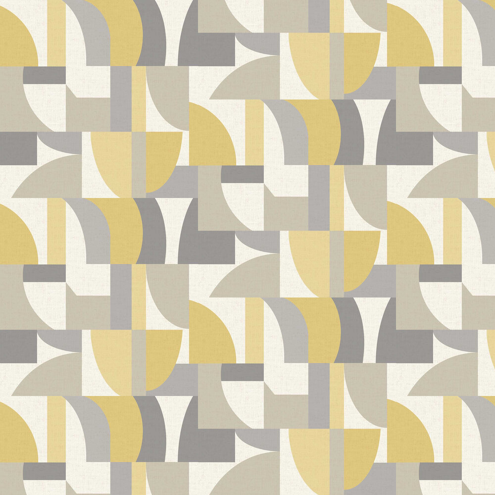 Arthouse Modern Geo Ochre / Grey Wallpaper - Product code: 697806