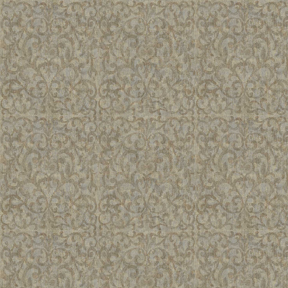 Luxe Scroll Wallpaper - Old Gold - by Fardis