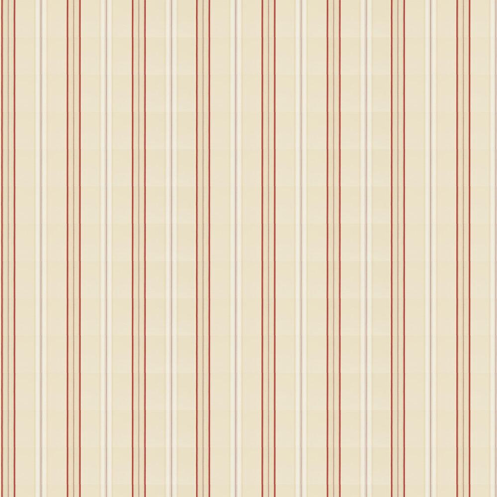 Ralph Lauren Dunston Stripe Vermilion Wallpaper - Product code: PRL054/06