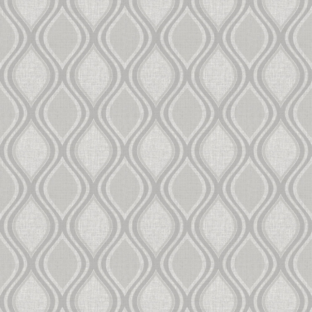 Curve Wallpaper - Grey - by Arthouse