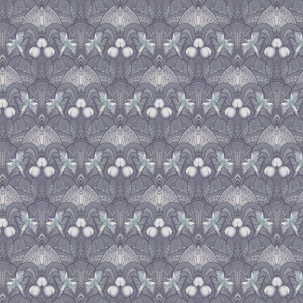 Pleasure Island Wallpaper - Metallic Grey - by Laurence Llewelyn-Bowen
