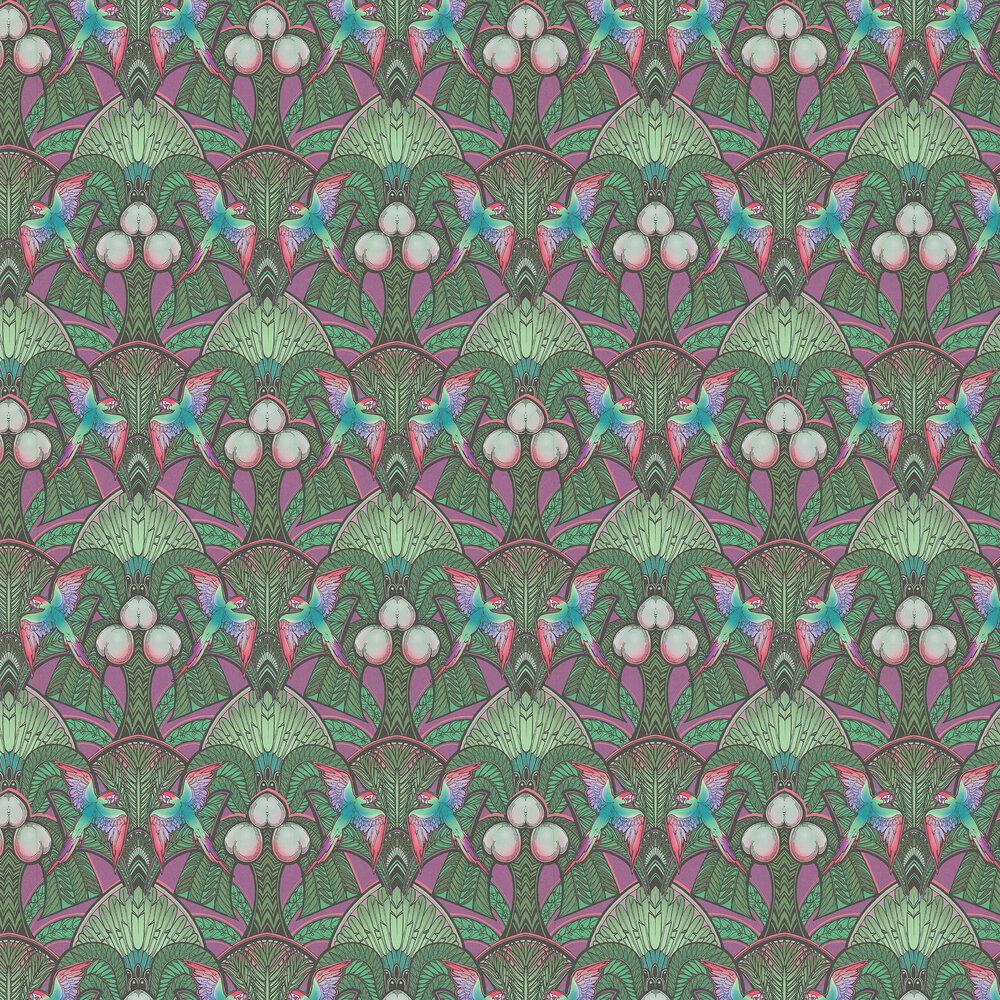 Laurence Llewelyn-Bowen Pleasure Island Green / Purple Wallpaper - Product code: LLB6044