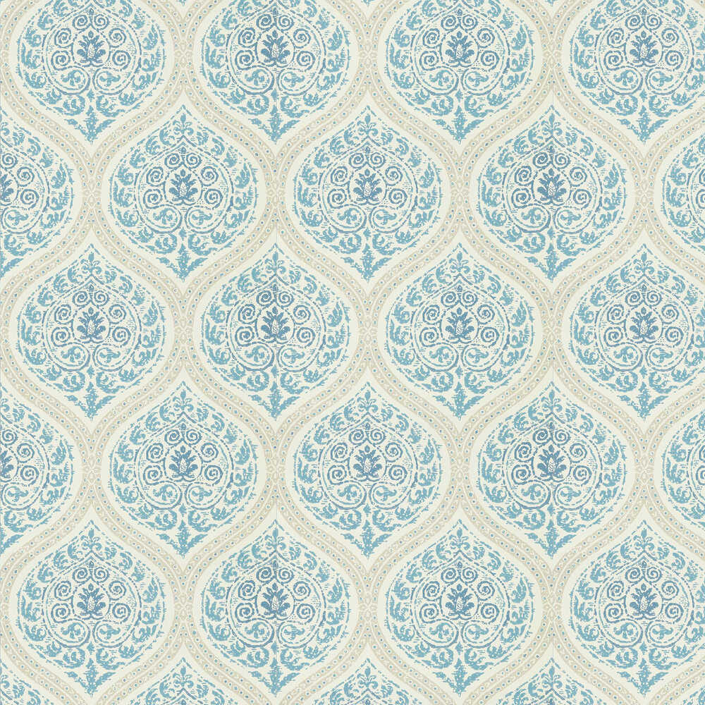 Madurai Wallpaper - Indigo - by Sanderson