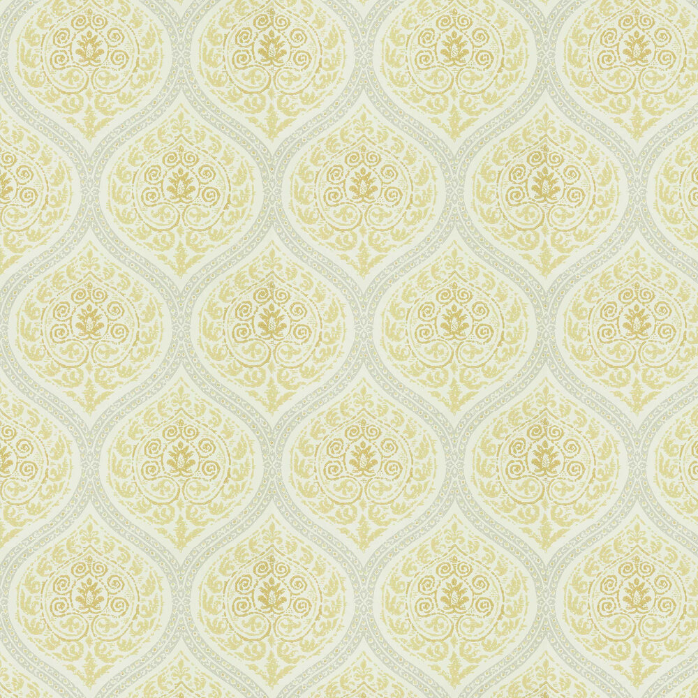 Madurai Wallpaper - Lemon - by Sanderson