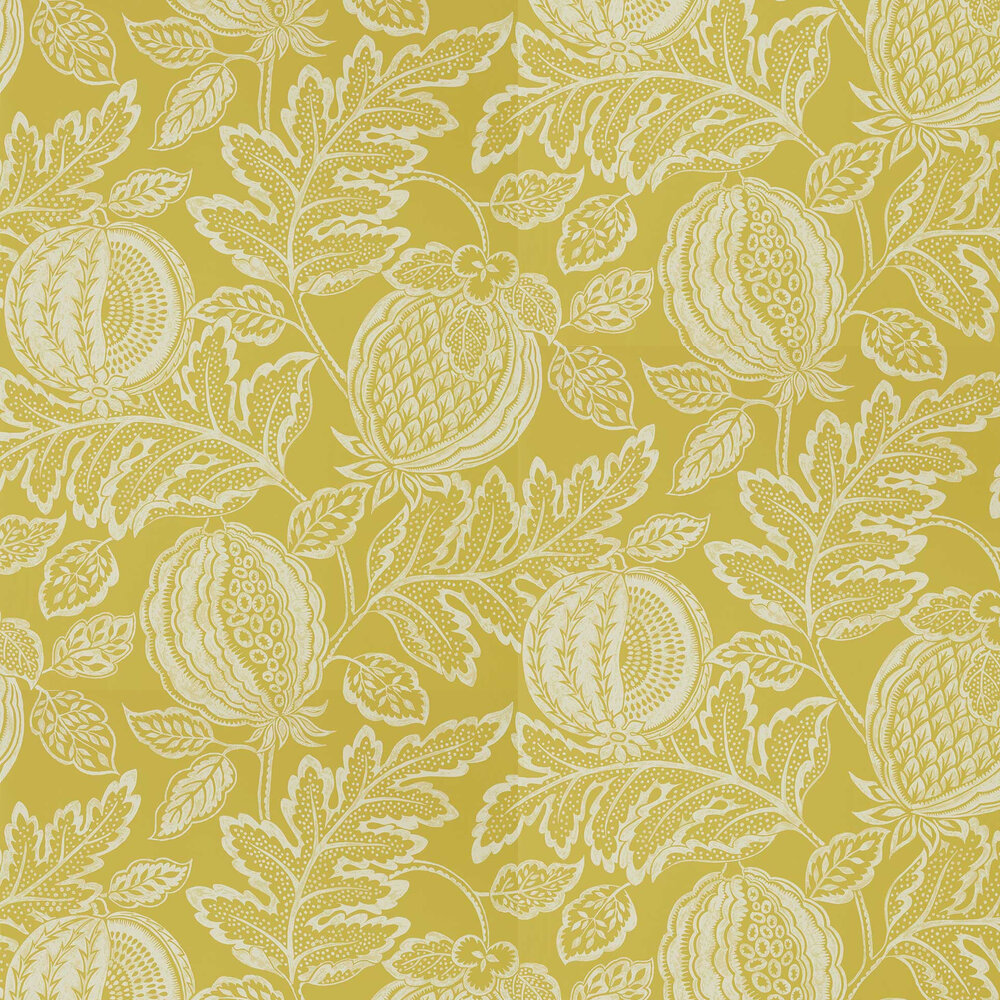 Cantaloupe Wallpaper - Caraway - by Sanderson