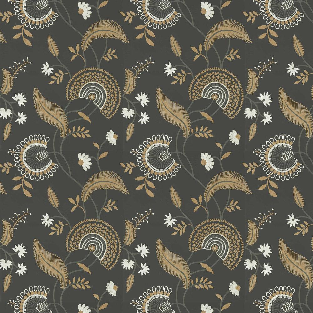 Hakimi Wallpaper - Ebony - by Sanderson