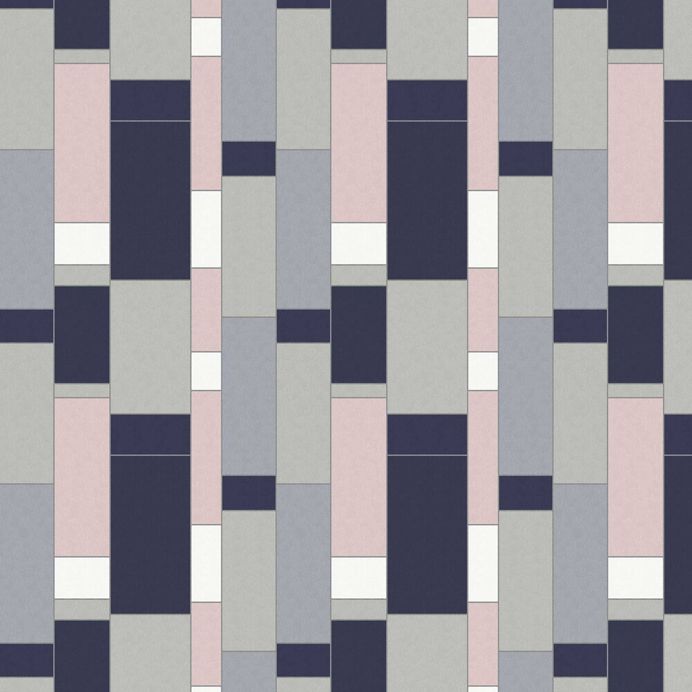 Structural Wallpaper - Ultramarine - by Coordonne