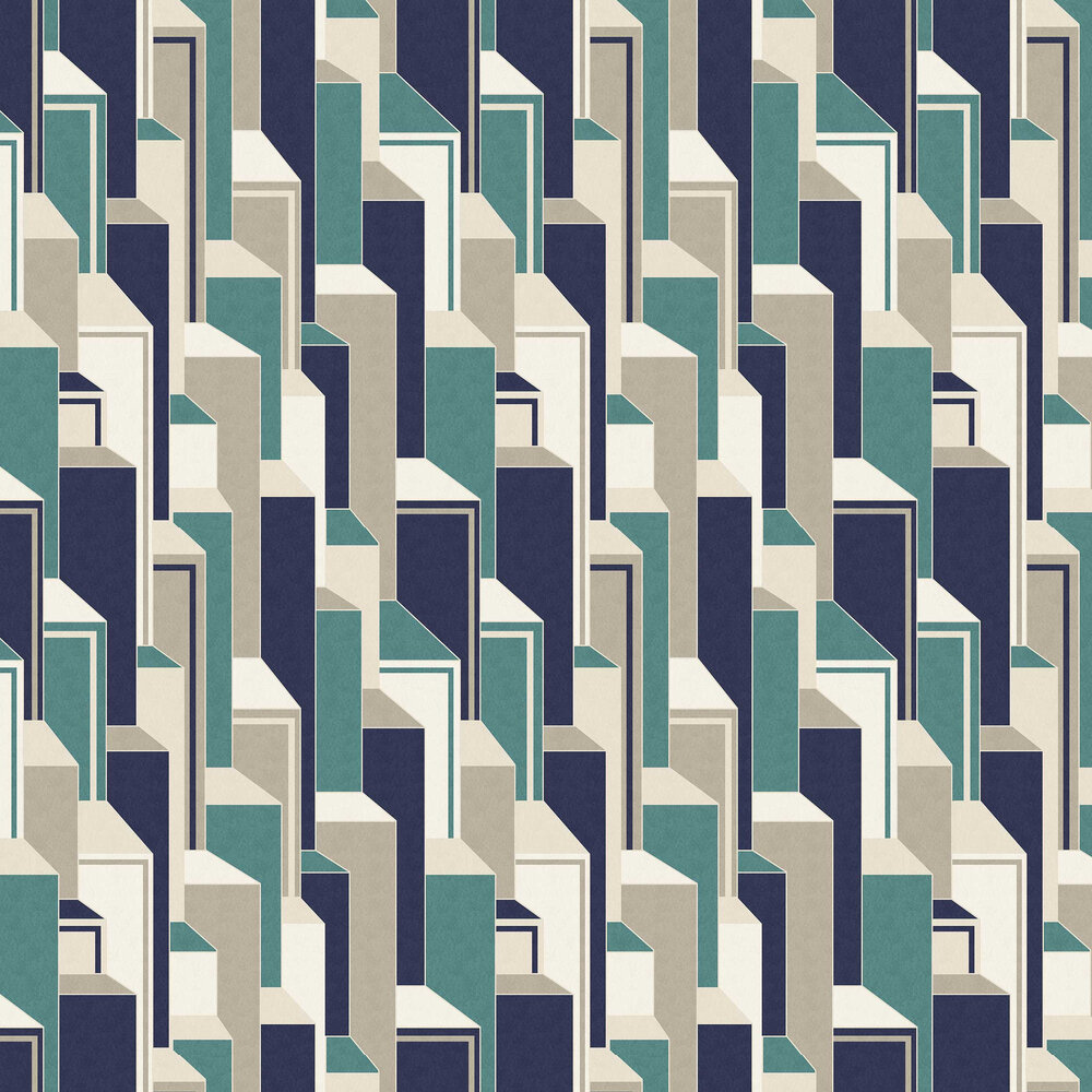 Levels Wallpaper - Ultramarine - by Coordonne