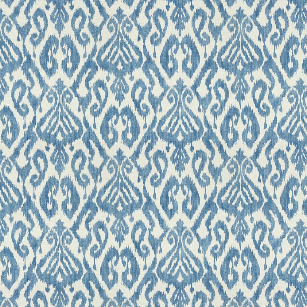 Kasuri Wallpaper - Indigo - by Sanderson