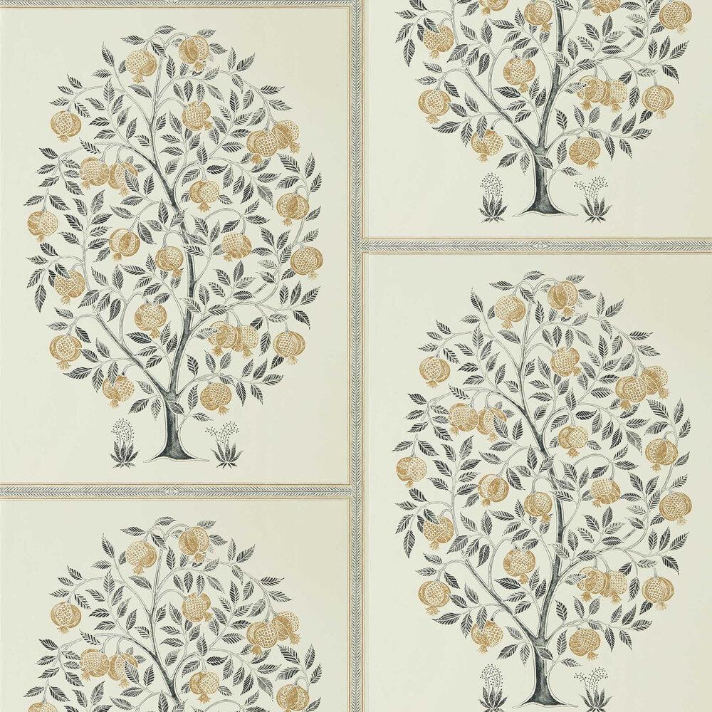 Sanderson Anaar Tree Charcoal / Gold Wallpaper - Product code: 216791