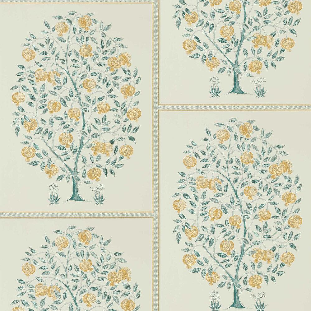 Sanderson Anaar Tree English Grey / Woad Wallpaper - Product code: 216792