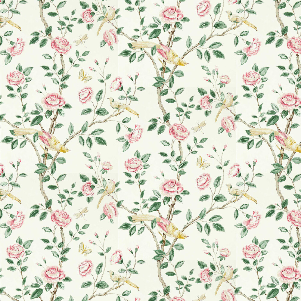 Andhara Wallpaper - Rose / Cream - by Sanderson