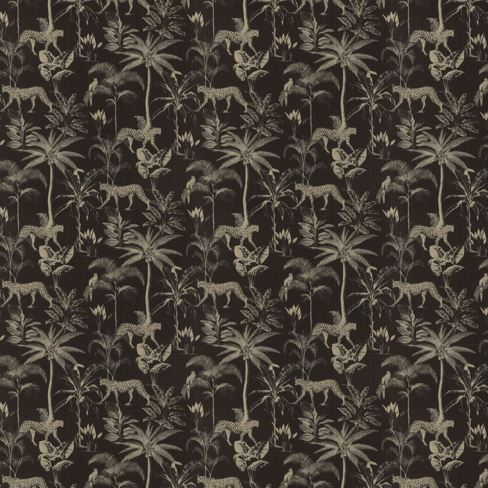 Cheetah Wallpaper - Black - by Albany
