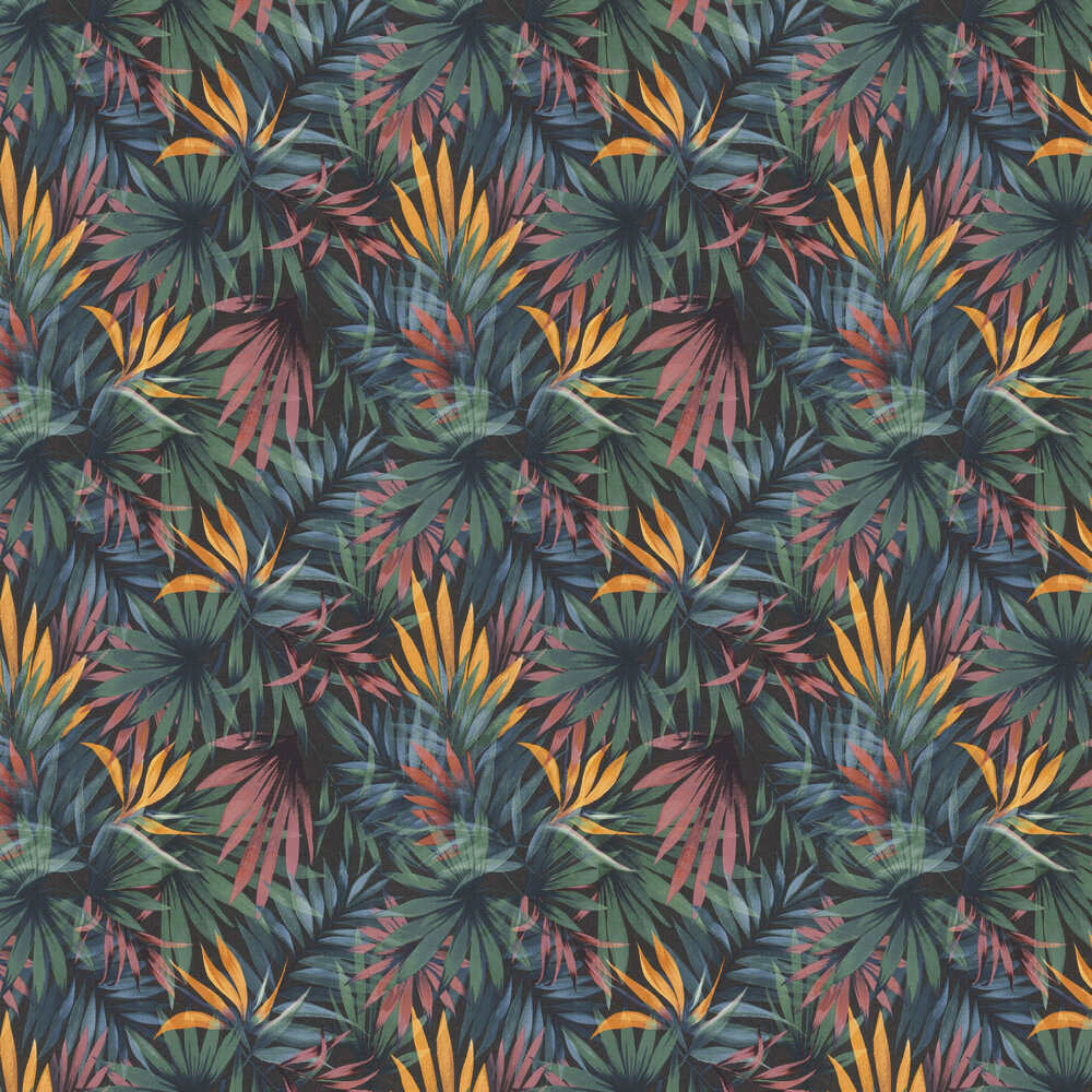 Palm Paradise Wallpaper - Multi / Green - by Albany