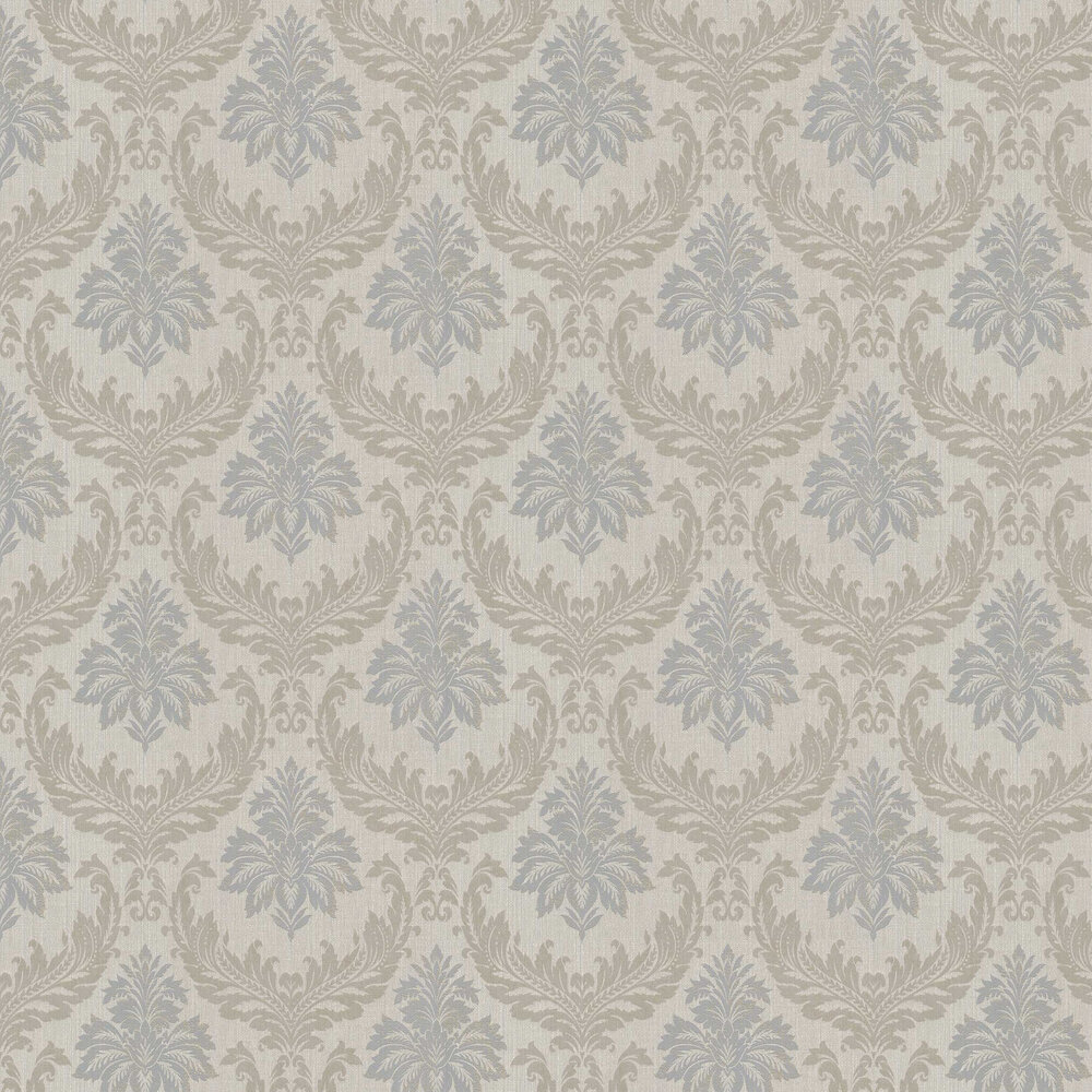 Richmond Damask Wallpaper - Taupe - by Elite Wallpapers