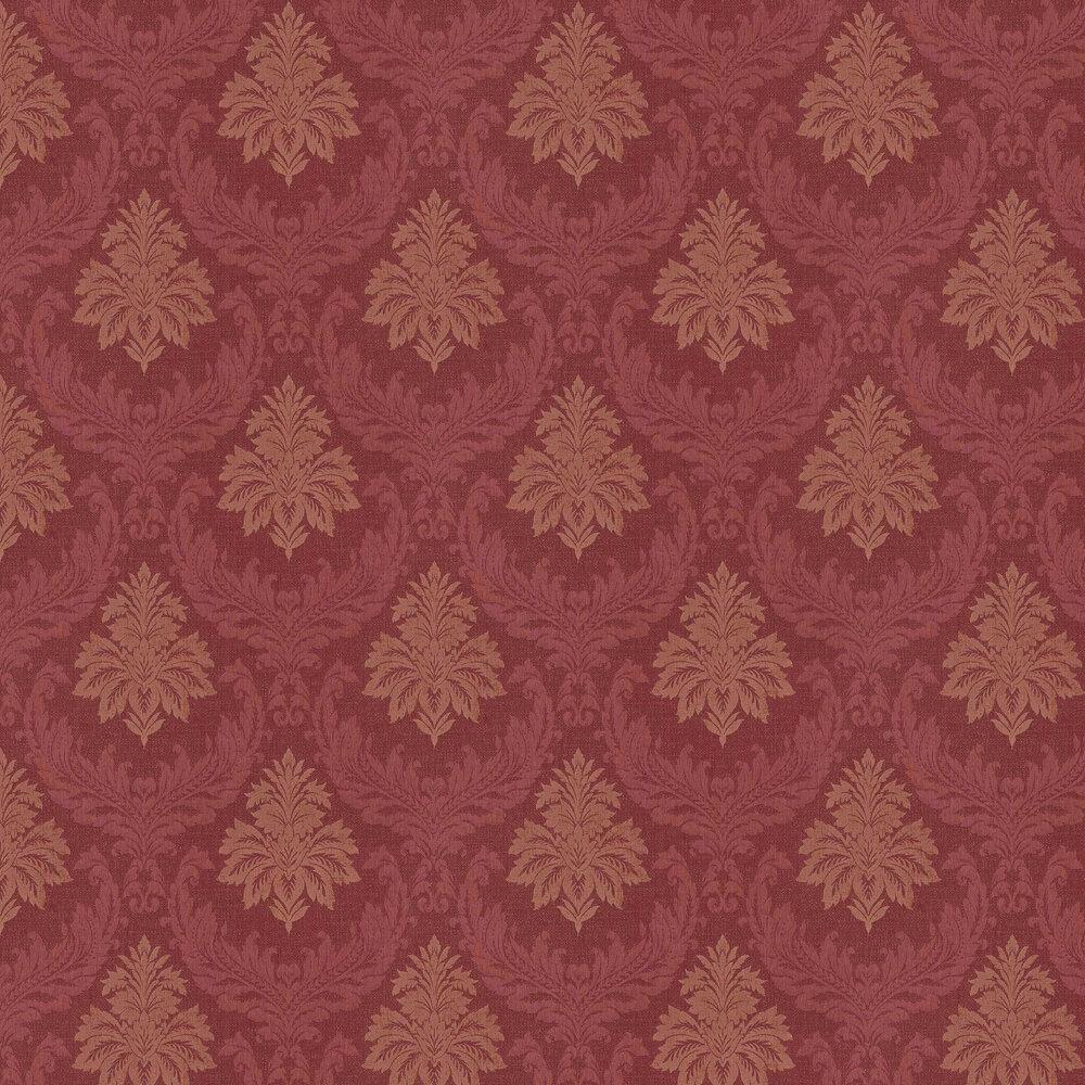 Richmond Damask Wallpaper - Maroon - by Elite Wallpapers