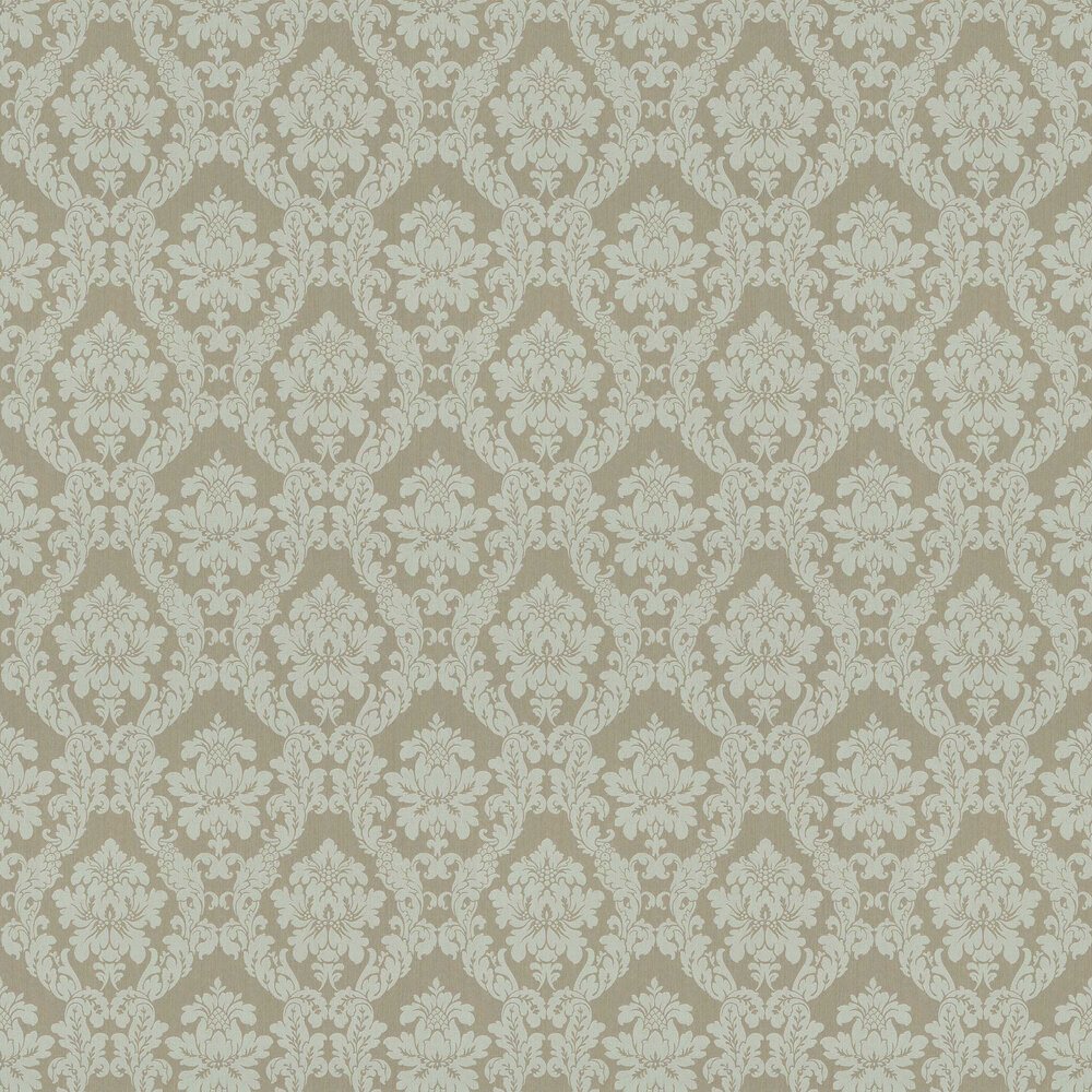 Chelsea Damask Wallpaper - Sage - by Elite Wallpapers