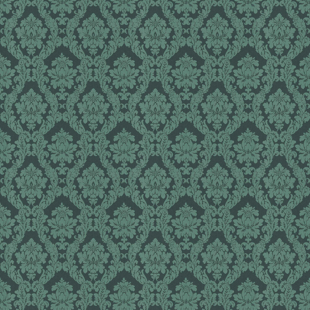 Chelsea Damask Wallpaper - Forest - by Elite Wallpapers