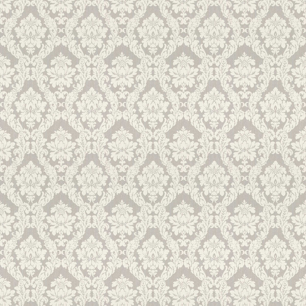 Chelsea Damask Wallpaper - Silver - by Elite Wallpapers