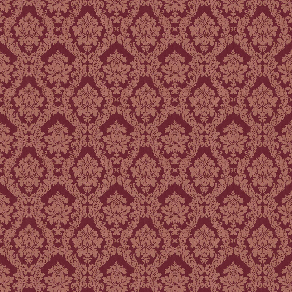 Elite Wallpapers Chelsea Damask Maroon Wallpaper - Product code: 085845