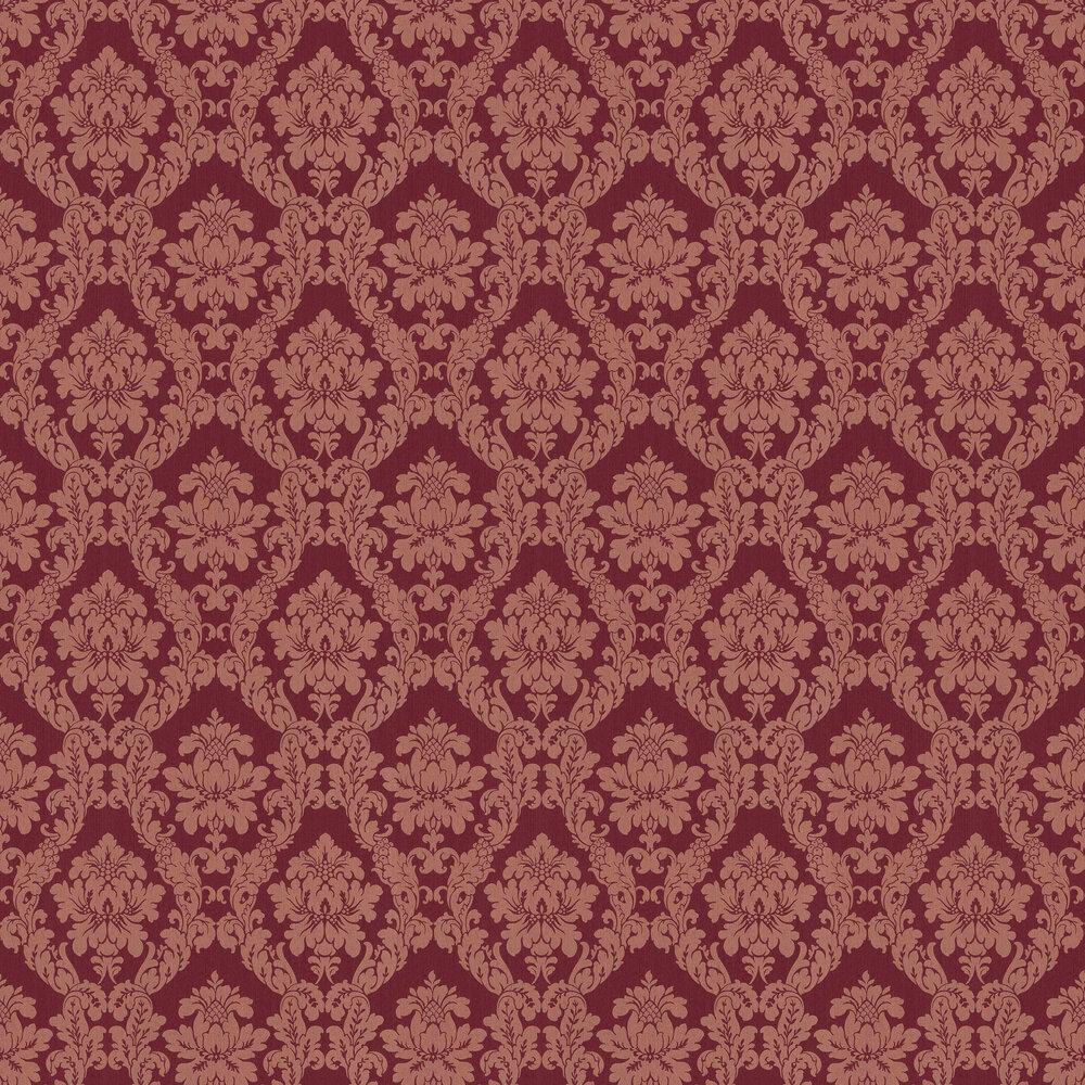 Chelsea Damask Wallpaper - Maroon - by Elite Wallpapers