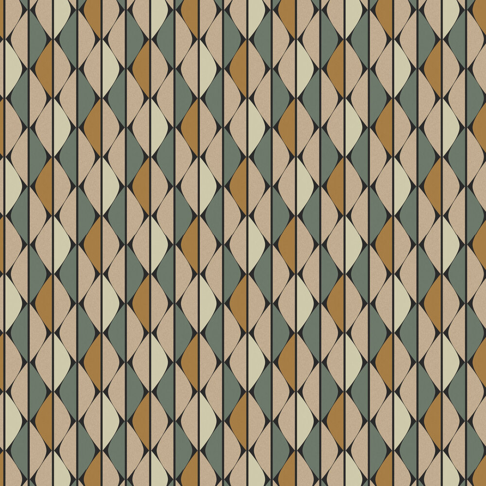 Timor Wallpaper - Honey - by Zoom by Masureel