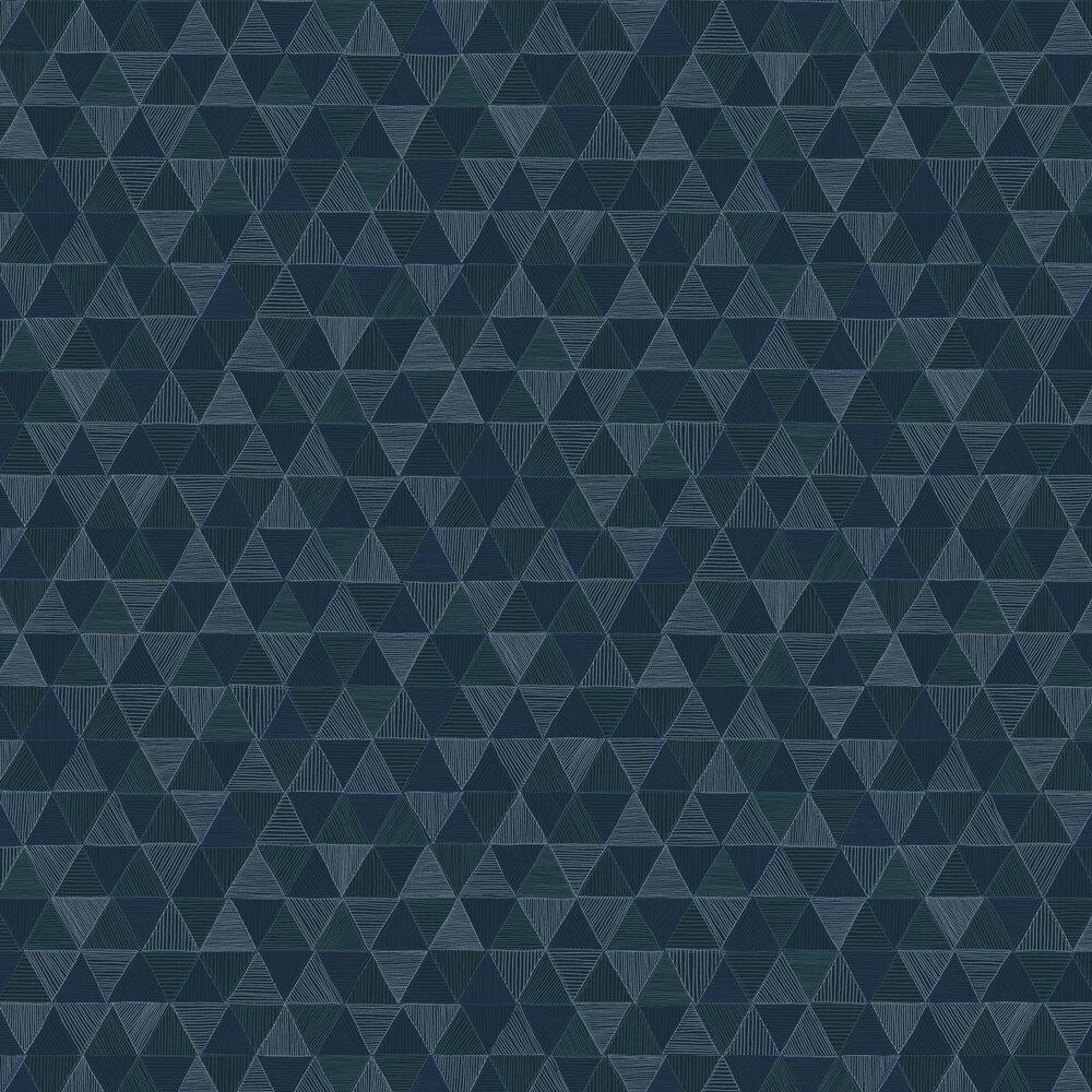 Kona Wallpaper - Sapphire - by Zoom by Masureel
