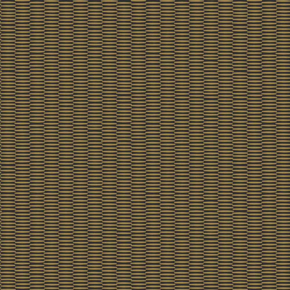 Kente Wallpaper - Curry - by Zoom by Masureel