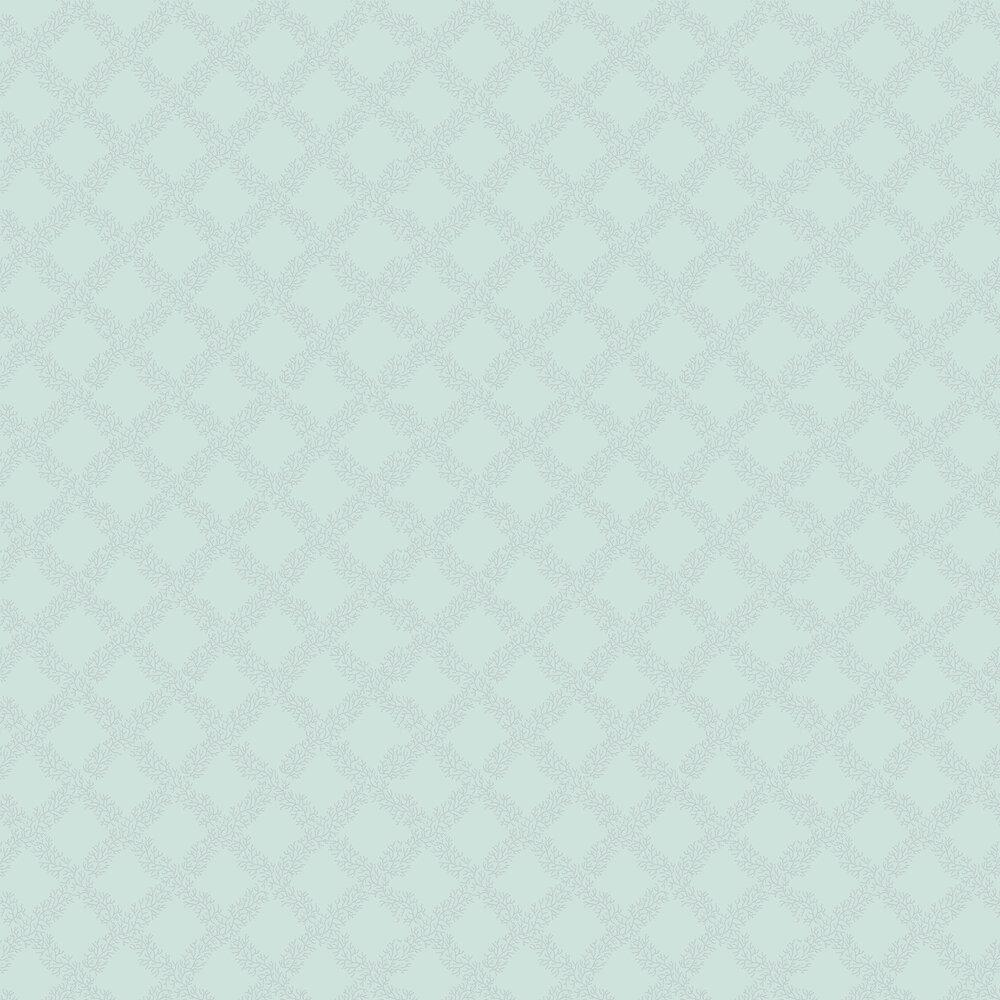 Sandycombe Trellis Wallpaper - Mint Green / Grey - by Hamilton Weston Wallpapers
