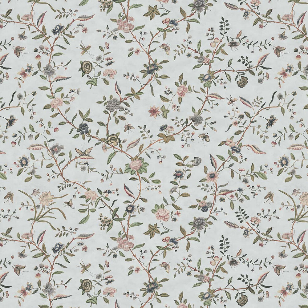 Swakeley's Chinoiserie Wallpaper - Muted Blue / Greens - by Hamilton Weston Wallpapers