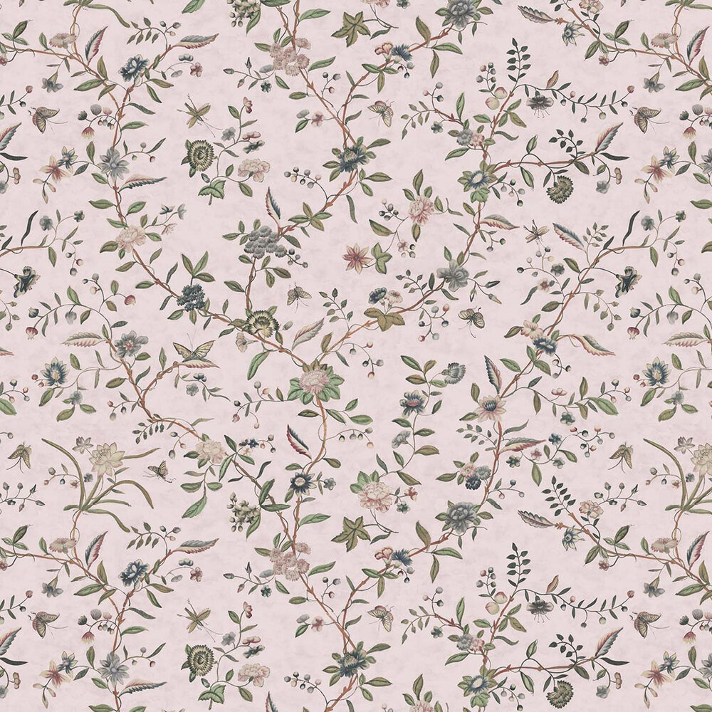 Swakeley's Chinoiserie Wallpaper - Pinks / Green - by Hamilton Weston Wallpapers