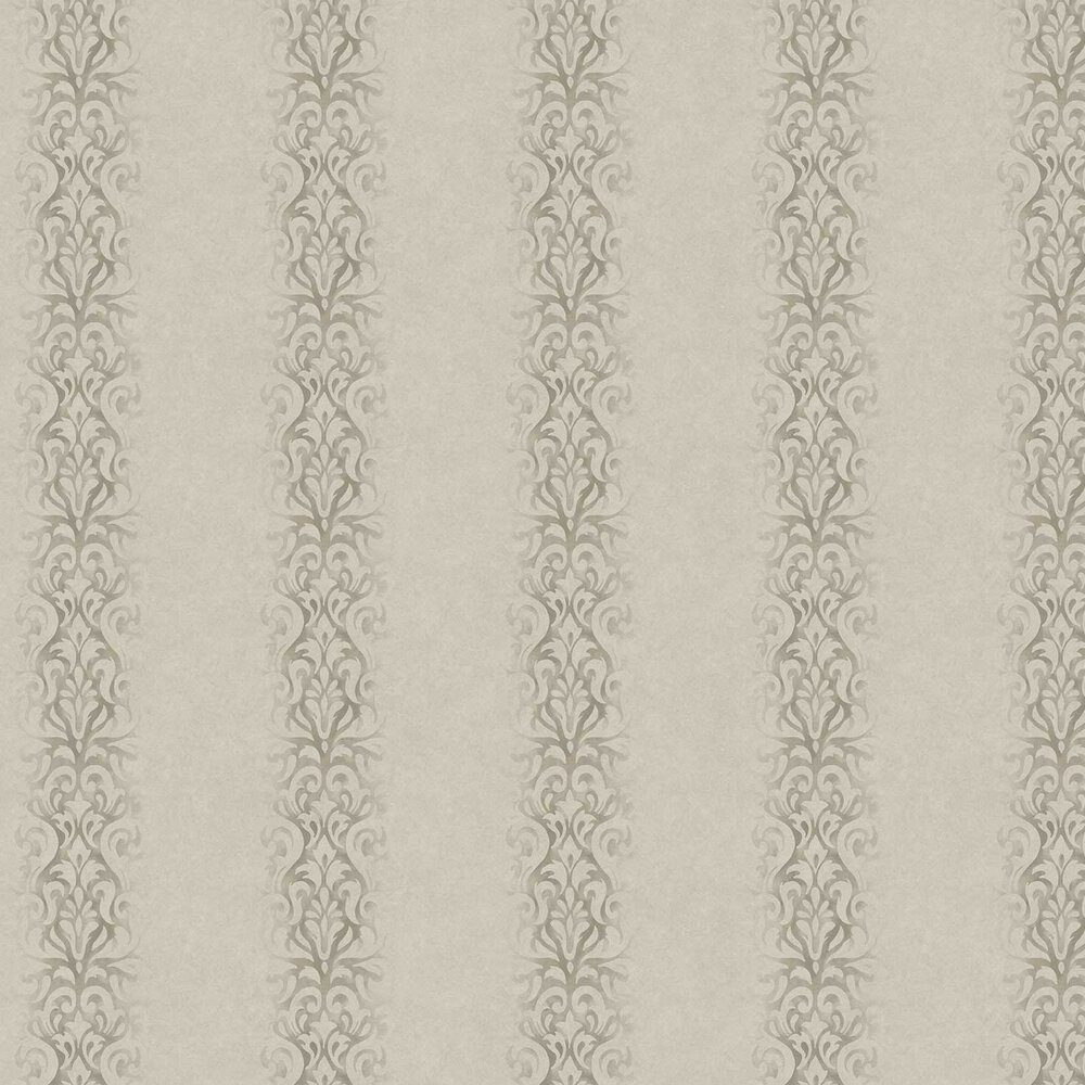 Devore Stripe Wallpaper - Taupe - by Fardis