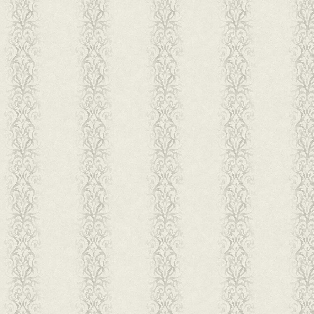Devore Stripe Wallpaper - White - by Fardis