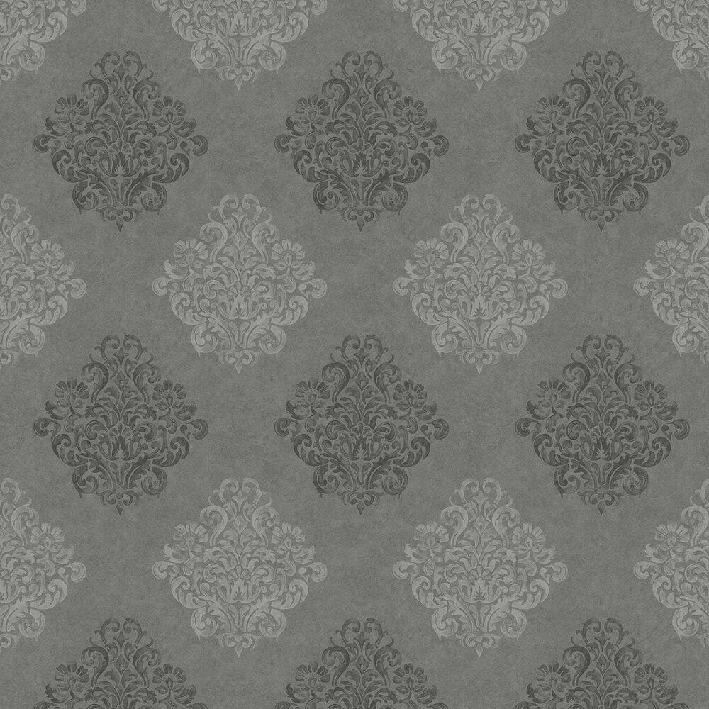 Devore Damask Wallpaper - Grey - by Fardis