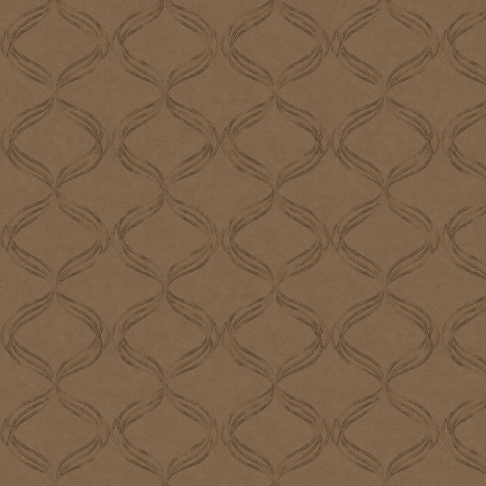 Devore Ribbon Wallpaper - Bronze - by Fardis
