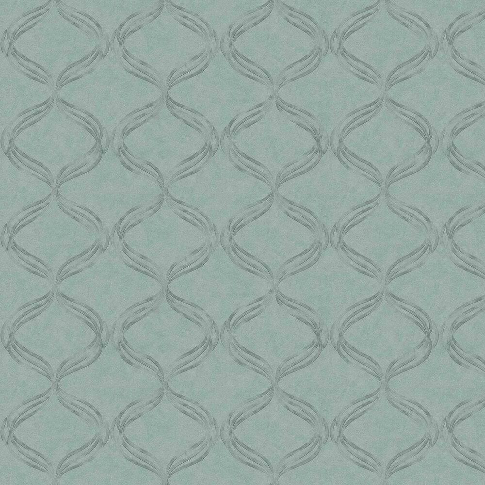 Devore Ribbon Wallpaper - Turquoise - by Fardis