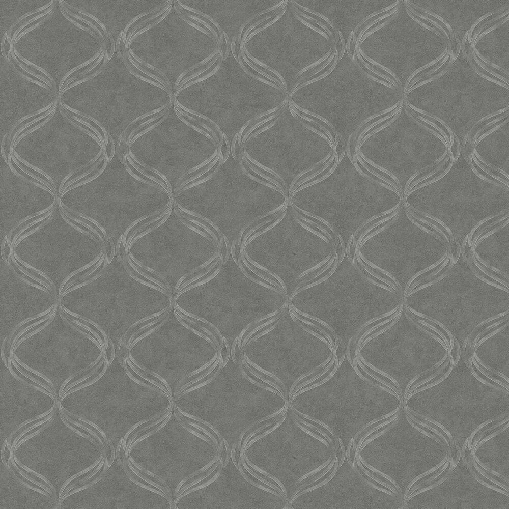 Devore Ribbon Wallpaper - Grey - by Fardis