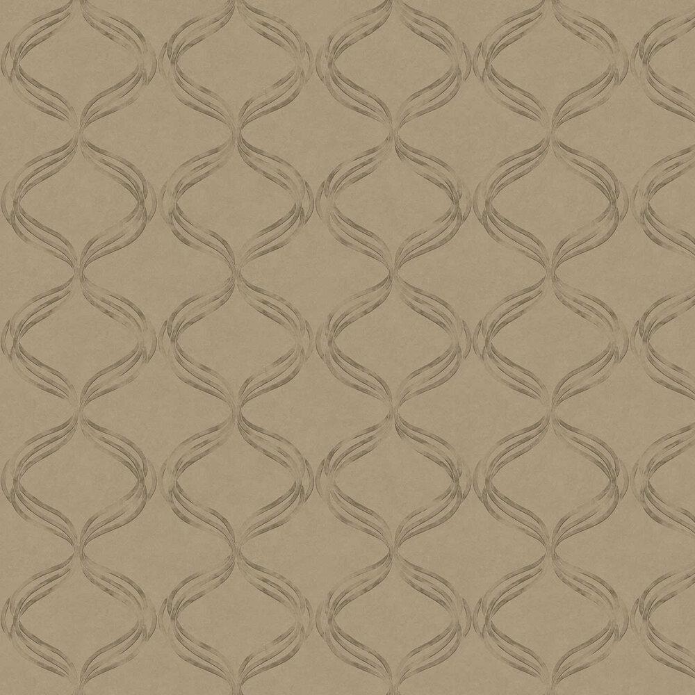 Devore Ribbon Wallpaper - Brown - by Fardis